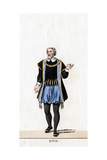 Griffith, Costume Design for Shakespeare's Play, Henry VIII, 19th Century Giclee Print