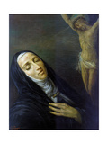 St Rita De Cascia in Ecstasy in Front of the Figure of Christ on the Cross, 19th Century Giclee Print
