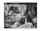 The Queen in a Cottage Bedroom, Late 19th Century Giclee Print by Gourlay Steel