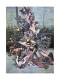 An Accident in Santander, Divers Looking for the Bodies of the Victims, 1893 Giclee Print