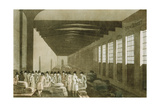 Interior of the Cloth Hall, Leeds, 1814 Giclee Print by George Walker