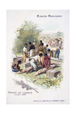 Departure from Loango, July 1896 Giclee Print