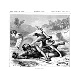 David Slaying the Philistine Giant Goliath, C1870 Giclee Print