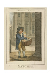 Matches, Cries of London, 1804 Giclee Print by William Marshall Craig