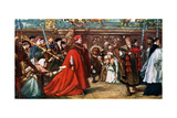 Cardinal Wolsey Going in Procession to Westminster Hall, 1887 Giclee Print by John Gilbert