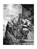 Galileo Presenting His Telescope to the Muses, 1655-56 Giclee Print