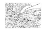 Map of the Course of the River St Lawrence as Far as Quebec, 1730 Giclee Print