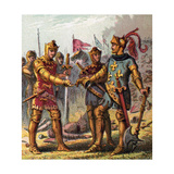 Battle at Poitiers, 1356 Giclee Print