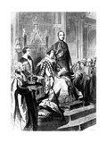 The Opening of Parliament by Queen Victoria, 1856 Giclee Print by Gustave Janet