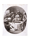 The Alderman's Dinner, 1775 Giclee Print by Francesco Bartolozzi
