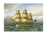 Royal Navy Battle Ship, C1760 Giclee Print