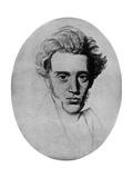 Soren Kierkegaard, Danish Philosopher and Theologian, C1840 Giclee Print by Niels Christian Kierkegaard
