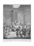 Interior View of the Marine Society's Office over the Royal Exchange, City of London, 1758 Giclee Print by Giovanni Battista Cipriani