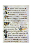 Decorated Text Page, 800 Ad Giclee Print