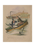 It's Most Hinfamous to Let These Here Steamers Out on a Sunday..., 1834 Giclee Print by Henry Heath