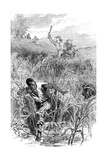 A Slave Hunt, USA, Mid 19th Century Giclee Print