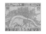 Map of the Cities of London and Westminster and Southwark, 1690 Lámina giclée