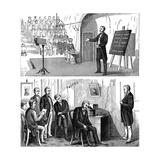 Alexander Graham Bell (1847-192), Scottish-Born American Inventor, 1877 Giclee Print