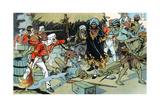 Mutineers Attacking the Magazine at Delhi, Indian Mutiny, 11 May 1857 Giclee Print