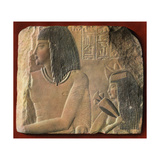 An Egyptian Limestone Relief, C1400 BC Giclee Print