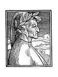 Dante Alighieri (1265-132), Italian Poet, 1521 Giclee Print by Giulio Clovio