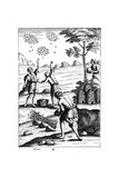 Beekeepers Preparing to Take a Swarm, 18th Century Giclee Print
