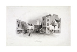 View of Mare Street, Hackney, London, C1860 Giclee Print by Charles Turner