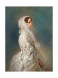 Portrait of Empress Alexandra Fyodorovna (Charlotte of Prussi), 1856 Giclee Print by Franz Xavier Winterhalter