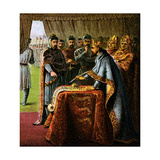 King John and the Magna Carta, 1215 Giclee Print