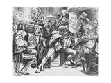 Secret Meeting of the Conservative Party, 1888 Giclee Print by Harry Furniss