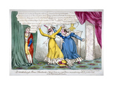 Queen Caroline and Mrs Wood, 1820 Giclee Print by William Heath