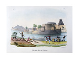 The Fort of Vellour (Vellor), India, 1828 Giclee Print by  Marlet et Cie