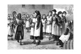 The Royal Masonic School for Girls, St John's Hill, Battersea Rise, London, 1875 Giclee Print