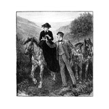 The Wooing of the Princess Royal, 1850s Giclee Print