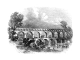 Aqueduct of Nimes at the Pont Du Gard, France, 1886 Giclee Print