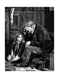 Man at Church Sitting in 'Free' Seat, London, 1872 Giclee Print by John Emms