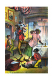 Scene from Harriet Beecher Stowe's Uncle Tom's Cabin, C1870 Giclee Print