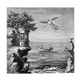 Death of Icarus, 18th Century Engraving Giclee Print