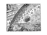Reconstruction of a Medieval Conception of the Universe, 19th Century Giclee Print