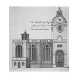 Elevation of the Church of St Benet Fink, City of London, 1760 Giclee Print