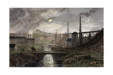 Nant-Y-Glow Iron Works, Monmouthshire, Wales, C1780 Giclee Print by George Robertson