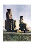 The Colossi of Memnon, Thebes, Egypt, 1933-1934 Giclee Print by Donald Mcleish