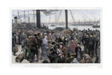A Study from Life on Prince's Landing Stage, Liverpool - Destroyed by Fire July 28, 1874 Giclee Print