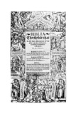 Title Page of the Coverdale Bible, 1535 Giclee Print
