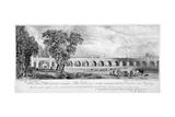 London and Greenwich Viaduct, Bermondsey, London, 1835 Giclee Print by  Chapman & Co