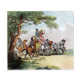 Vicissitudes of the Road in 1787, the Highwayman, Lord Barrymore Stopped, 1890 Giclee Print by Thomas Rowlandson
