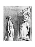 Total War: What Old Mirrors They Make Nowadays, 1868 Giclee Print by Honore Daumier