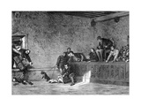 Rat Fighting, Recreation of Louis XI of France, 1461-1483 Giclee Print by Charles Comte