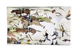 Battle of the Little Big Horn, Montana, USA, 25-26 June 1876 Giclee Print