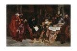 The Emperor Maximilian Receives the Venetian Ambassadors in Verona, 1879 Giclee Print by Carl Ludwig Friedrich Becker